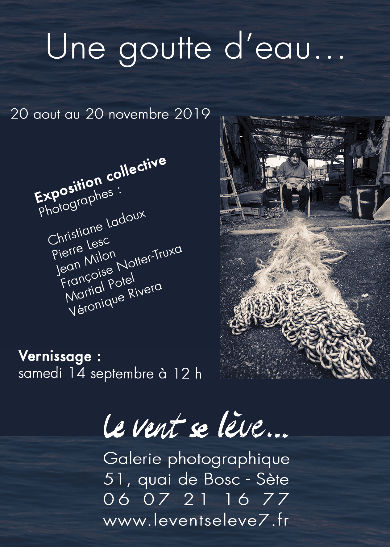 flyer exposition photo à Sète